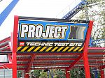 Project X Coaster Sign