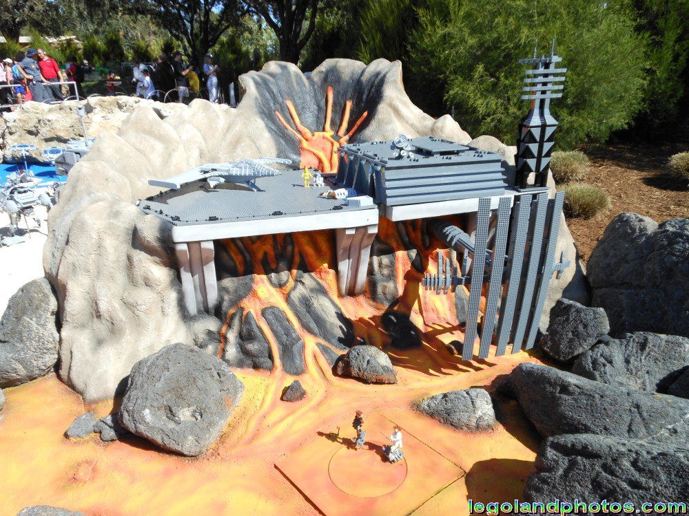 Lego Star Wars Miniland Mustafar At Legoland Florida Photos